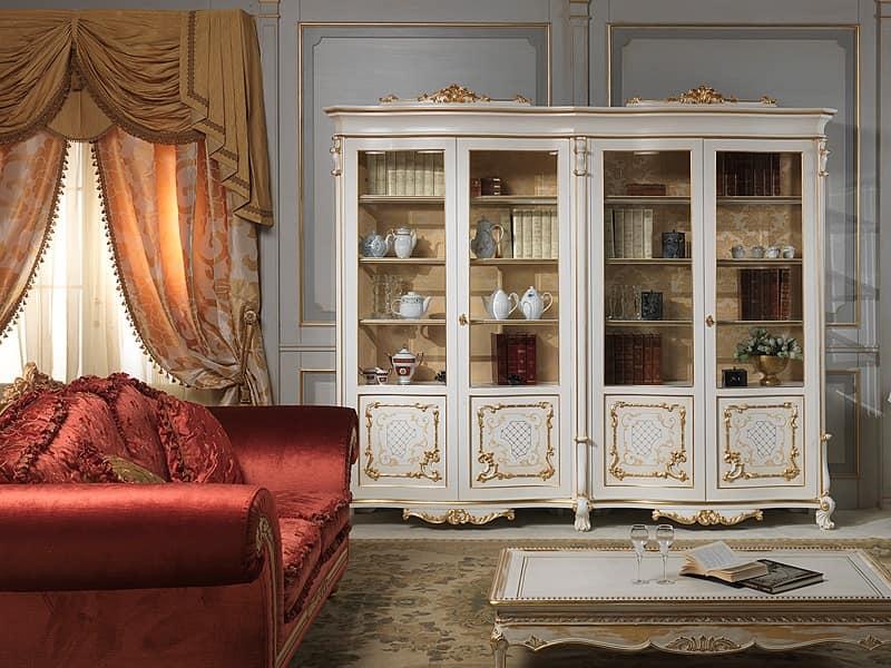 Art. 9007 vetrina showcase, Eleganter Luxus Vitrine, in Massivholz