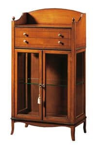 Cleopatra FA.0085, Vitrine mit 2 Türen, 2 Schubladen und Stauraum, ideal für Umgebungen, in klassischem Stil