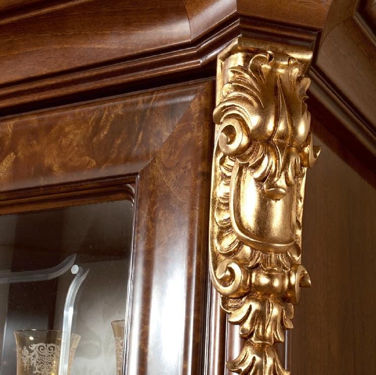 elegante vitrinen, klassischen italienischen design, für, Hause deko