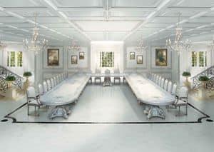 F504 Art Deco dining room, Große Luxus-klassische Tisch im Art Deco Stil