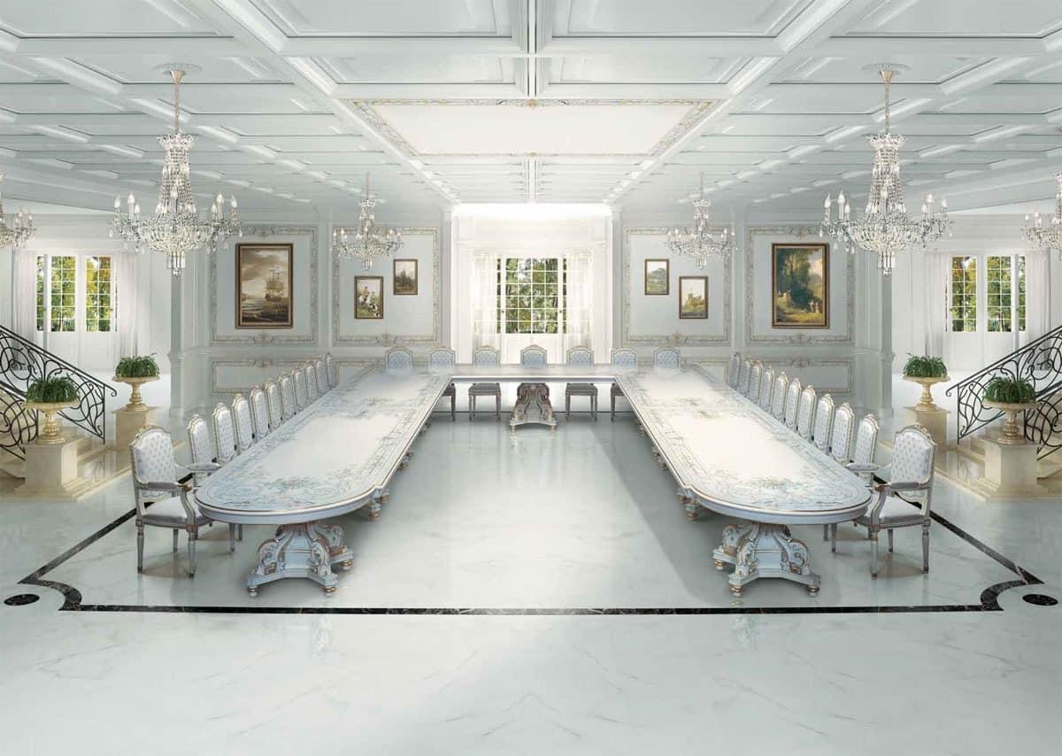 Große Luxus Klassische Tisch Im Art Deco Stil Idfdesign