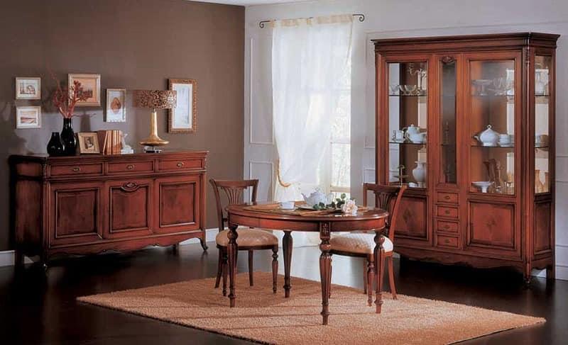 vitrine im klassischen luxus-stil, für wohnzimmer   idfdesign, Hause ideen