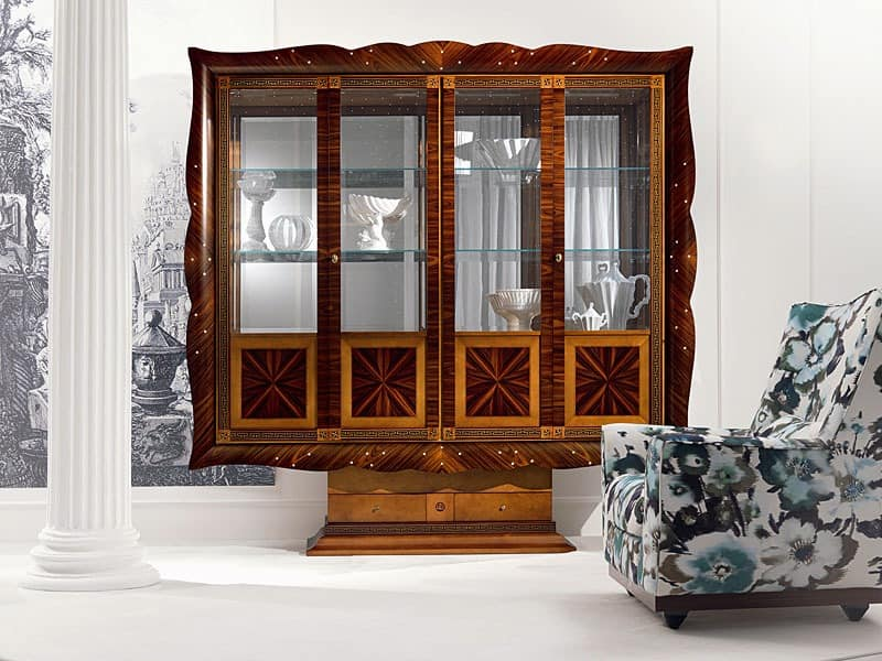 4 t ren pr sentation hinter glas gebogen mit glast ren. Black Bedroom Furniture Sets. Home Design Ideas