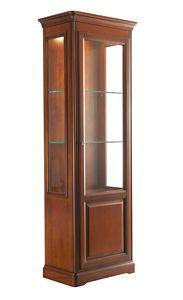 Villa Cinquanta Schaufenster 7576, Showcase mit Glastür und Glasböden