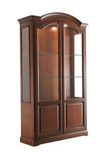 Villa Cinquanta Schaufenster 7578, Vitrine aus Holz mit Glastüren