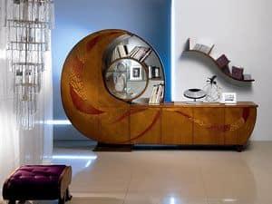 VL18 Chiocciola, Vitrine, Bücherschrank, Sideboard, TV-Ständer, für Wohnzimmer