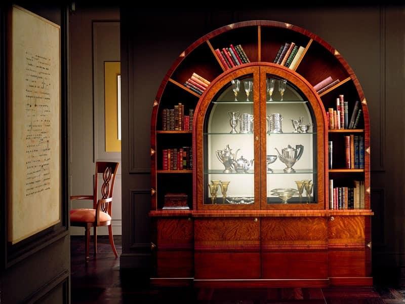 gew lbte bibliothek in intarsien aus rosenholz. Black Bedroom Furniture Sets. Home Design Ideas