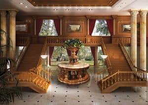 01 Boiserie, Klassischer Luxus Wainscoting, endet in Blattgold