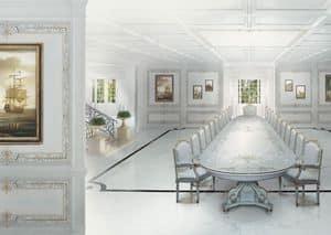 504 Boiserie, Holzarbeiten weiß lackiert, für die Gaststätten im klassischen Stil