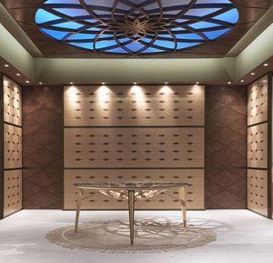 BOIS10 Galileo, Verkleidungen in eingelegtem Holz, für Hotels und Restaurants