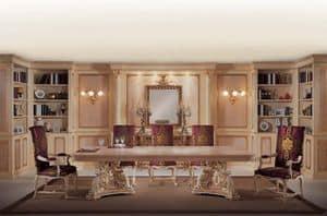 Boiserie Caravaggio, Elegante Holzvertäfelung, mit handgeschnitzten Verzierungen