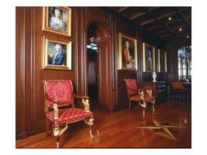 Bild von Boiserie corridor, klassisches holzarbeiten