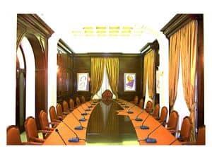 Bild von Boiserie meeting room, verkleidung aus holz