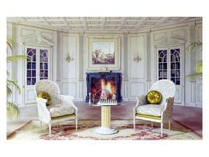 Bild von Boiserie Versailles living room, holzpanelen