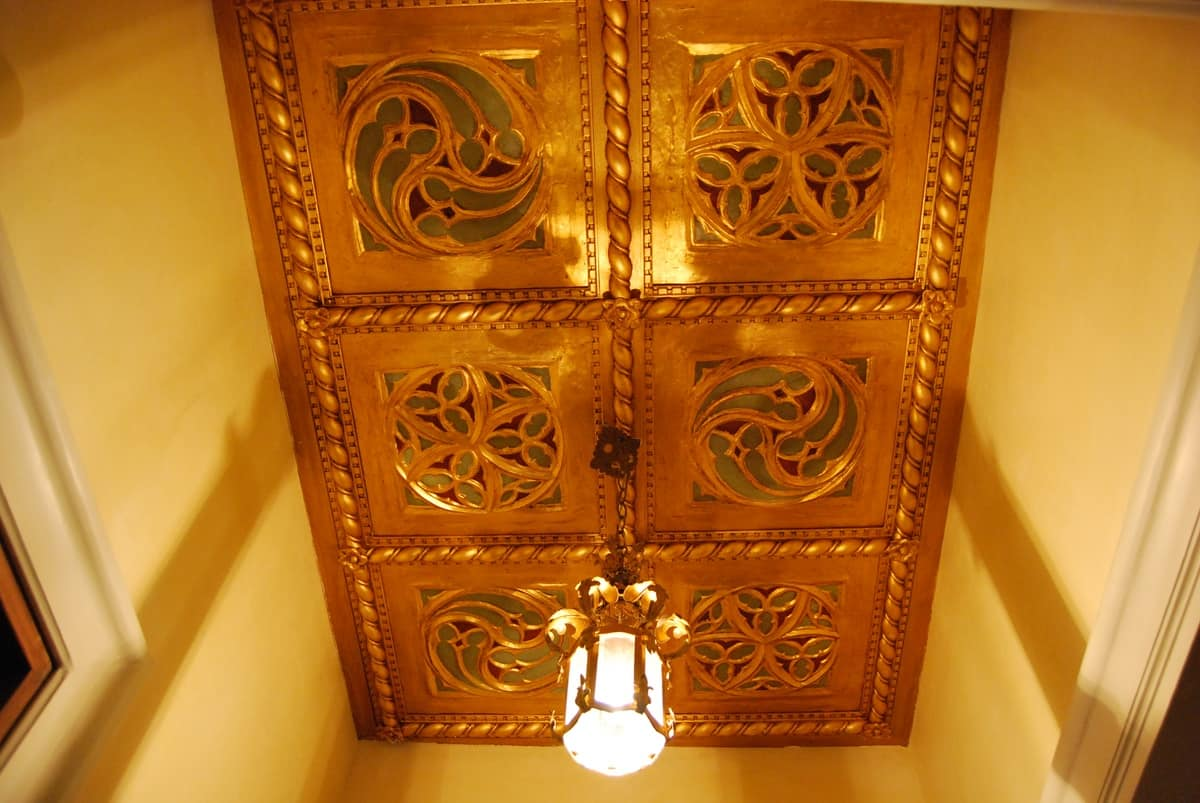 Charming Dekorplatte / DECKEN ART. AC 0009, Goldene Dekorativen Platte, Im  Klassischen Stil