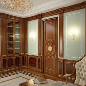 Holzverkleidung, Holzverkleidungen für Hotels und Villen, ideal abgestimmt wuth klassischen Möbeln