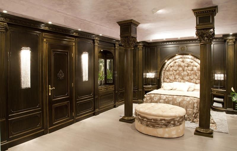 Beschichtete holzverkleidung f r luxuriuos schlafzimmer idfdesign - Boiserie camera da letto ...