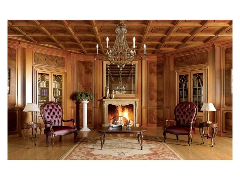 Decken Zierleisten Aus Holz ~ Luxus Klassische Holzarbeiten Wohnzimmer  Wooden ceiling Cambridge