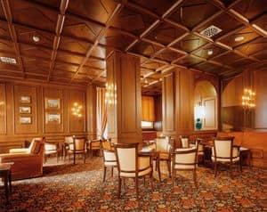 Zwischendecken, Typische Decke in Holz ideal für Luxushotels
