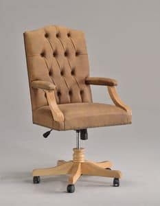 ANTU' office 8222A, Schwenkstuhl auf Rollen, für klassischen Stil Büros