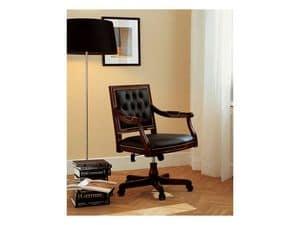 LUIGI XVI QUADRA office 8223A, Luxus Präsidentenbürostuhl, Kipp- mecanism