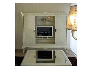 3520 TV STAND, TV-Ständer in einem modernen Stil für Hotelsuiten
