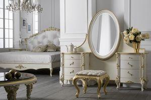 Art. 0127, Luxuriöser Schminktisch mit verstellbarem Spiegel