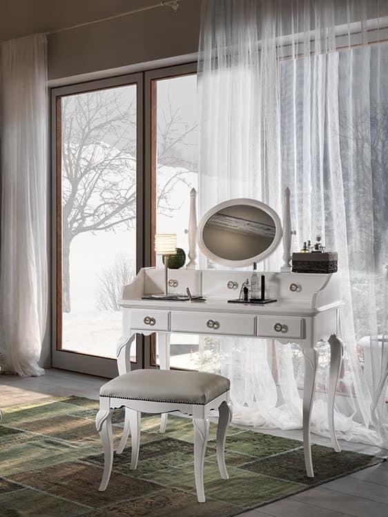 schminktisch im provenzalischen stil aus edelholz idfdesign. Black Bedroom Furniture Sets. Home Design Ideas