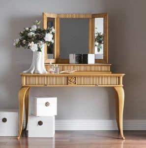 Art. CA727 + Art. CA728, Kommode mit Spiegel, für klassischen Stil Schlafzimmer