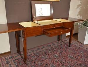 Beauty Tabelle, Dressing Tisch aus Massivholz, mit Ablagefach