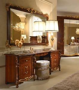 Donatello Schminktisch, Luxus Frisiertisch, von Hand dekoriert, für das Schlafzimmer