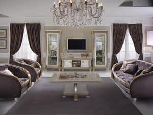 Liberty TV-Ständer, Holz- TV-Schrank, Liberty-Stil, für klassische Wohnzimmer