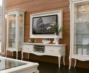 MONTE CARLO / aufgehängtes TV-Panel mit Rahmen, Wandmontiertes TV-Panel