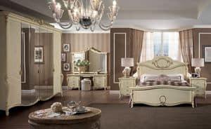 Tiziano Schminktisch, Klassischer Luxus Frisiertisch, den Schlafzimmern