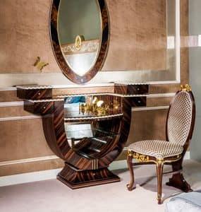 TS05, Ebony Schminktisch ideal für Schlafzimmer des Luxus