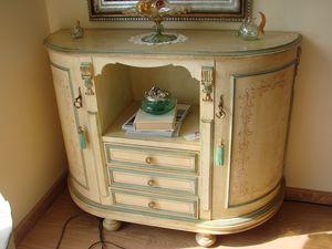 Art. 104, Schrank mit Schubladen und Türen, elfenbeinbeschichtet