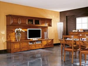 Art.106 / L, TV-Schrank aus Holz, klassischen Stil
