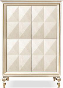 Diamante cabinet, Schrank mit Glasinnenregalen
