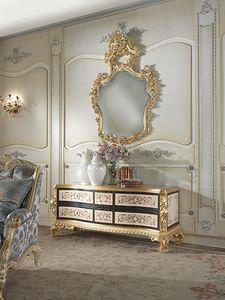 Nobile-D Kabinett, Klassischer Schrank aus schwarzem Ebenholz