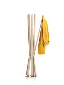 Bloom, Drehbarer Mantelständer mit flexiblen Armen