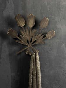 Bouquet Kleiderhaken, Metall-Wandhalter, in der modernen Art