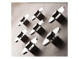 Plug.in, Kleiderbügel aus verchromtem Stahl, Wandmontage gemacht