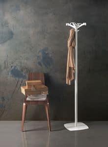 Quadrangolo, Garderobenständer aus Stahl, Kopf in Polycarbonat