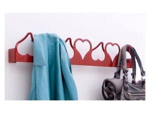 Valentina Kleiderhaken, Metall-Wandhalter, herzförmig, moderner Stil
