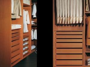 Ausstattung Intern 12, Moderner Kleiderschrank mit Zubehör, für Schlafzimmer