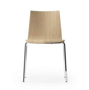 CARPET WOOD, Stuhl in gebleichter Eiche, auf einem vierbeinigen Rahmen
