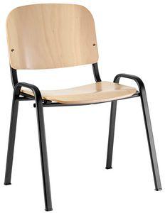 Conferenza Sperrholz, Stuhl mit Sperrholz Sitz, ausgestattet mit Schreib-Tablette
