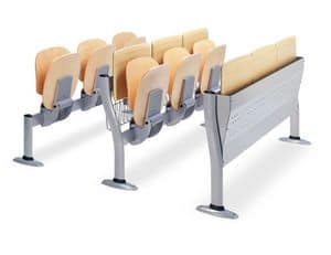 Copernico, Sitze für die Universitätsklassenzimmer, in Holz und Metall
