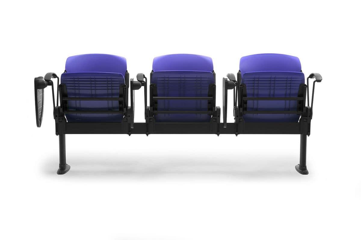 Cortina mixed bench, Bank mit Polsterliegesitze, für Universitäten