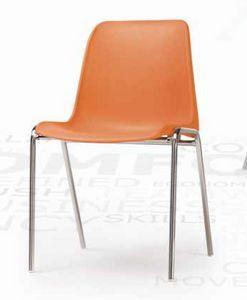 Helene, Stapelbarer Stuhl mit Kunststoffschale